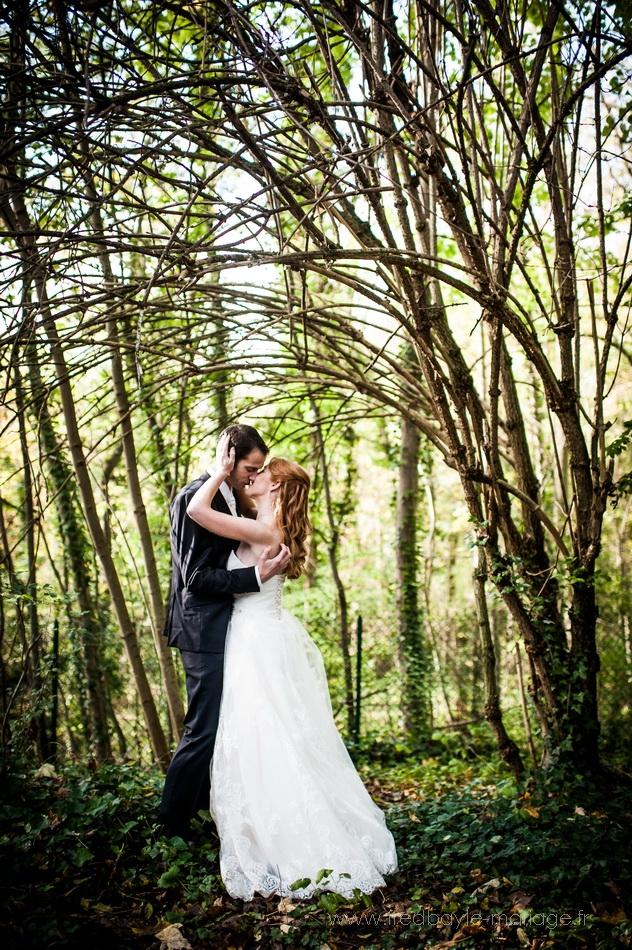 photos de mariage autour des bassins du parc de sceaux