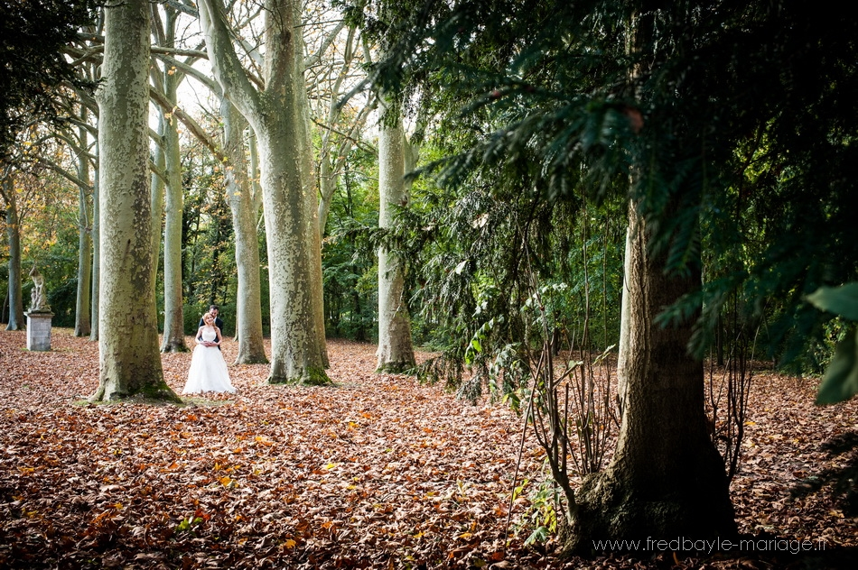 mariage dans le parc de sceaux