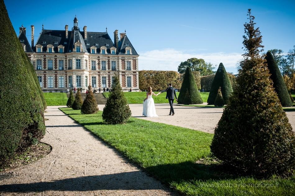Photos de mariage dans les jardin sdu parc de sceaux