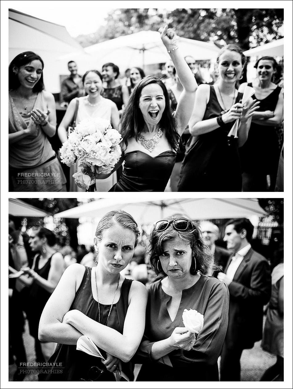 mariage à Paris, lancé du bouquet de la mariée