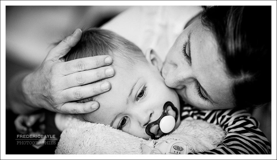 photos de bébé dans son lit