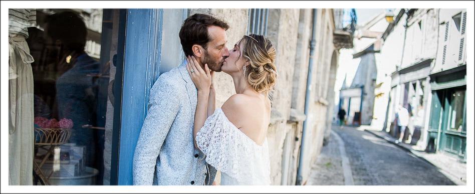 photos de couple dans les rues de Senlis, Oise